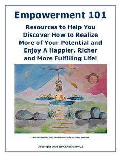 Empowerment 101 is a resource guidebook and directory of resources on personal, social, organizational, community and spiritual empowerment. It features over 101 mostly free resources  to help people, organizations and communities see, believe and achieve all they can be, do and have. It includes over 101 pages of quizzes, self-assessments, reviews and instructions on how to access and get the most out of featured resources. Self Image, Self Assessment, Sky High, Self Confidence, Guide Book, Organizations, Quizzes, Helping People, Spirituality