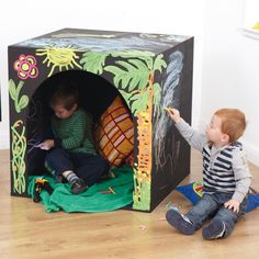 Mark Making Cave - make a den in it, draw on it or make it into a sensory corner. A blank canvas that can be transformed with a few dashes of colour!