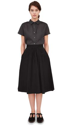Margaret-Howell-Women-SS13-Customer-Look-23.jpg (482×852) | high waisted skirt & button-up