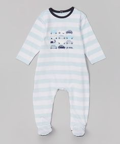 Look what I found on #zulily! White Stripe Car Footie - Infant by je cute #zulilyfinds