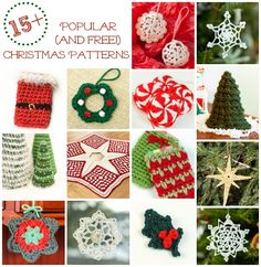 Free Christmas Crochet Patterns | www.petalstopicots.com | #crochet #Christmas #holiday #patterns ... scroll down and click on individual pics to get specific patterns