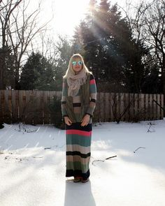 Winterize your maxi dress with layers!