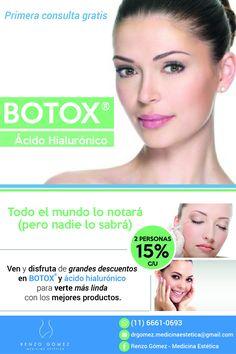 Rejuvenecimiento facial con Botox® y ácido hialurónico