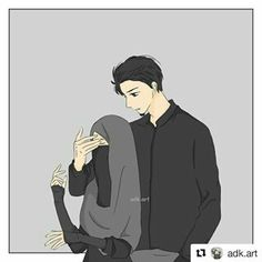 No photo description available. Love Cartoon Couple, Cute Love Cartoons, Funny Cartoons, Cute Couple Drawings, Cute Couple Art, Cute Muslim Couples, Cute Anime Couples, Muslim Pictures, Muslim Couple Photography