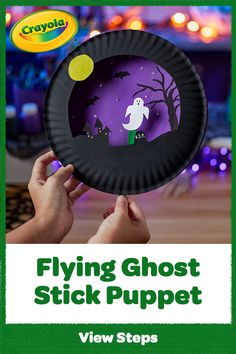 Ghouls just want to have fun! Make a fab-boo-lous stick puppet & paper plate craft, then spook, scare & play.