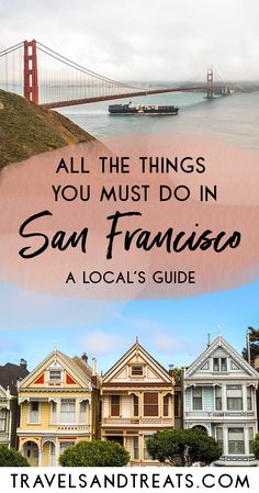 A San Francisco bucket list of the best things to do in San Francisco. First time in San Francisco? This San Francisco bucket list shares all of my favorite thi Usa Travel Guide, Travel Usa, Travel Guides, Travel Tips, Solo Travel, Travel Photos, Us Travel Destinations, Places To Travel, Cool Places To Visit
