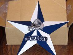 12 Dallas Cowboy metal star by lizziecrafts on Etsy