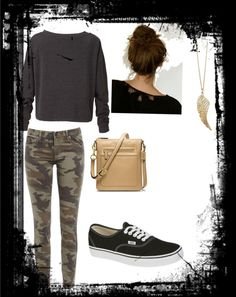 """school outfit 2"" by ashleygonzalezvasquez ❤ liked on Polyvore"