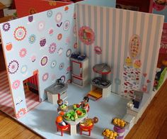 Too cute... Fun... DIY dollhouse for kids.... They can even make this exactly how they want it!!