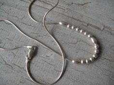 Sterling Silver Bead Necklace by mimiyaya on Etsy, $20.00