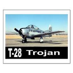 T-28 TROJAN AIRCRAFT Small Poster> T-28 Trojan Trainer Aircraft> Zoom Wear #Aircraft #Posters