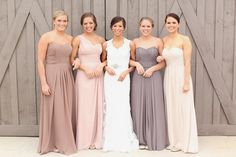 One of the hottest wedding trends are neutral bridesmaid dresses. Find ideas and inspiration to steal the look.