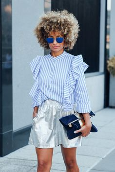 81 of the Coolest Outfit Ideas from New York Fashion Week Nyfw Street Style, Spring Street Style, Casual Street Style, Spring Summer Fashion, Only Shorts, Mein Style, Mode Inspiration, Fashion Inspiration, Looks Style