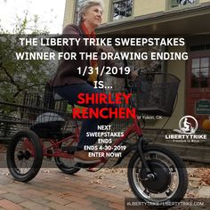 Electric Tricycle, Liberty, Giveaway, Cycling, Congratulations, Wheels, Bicycle, Drawing, Pageants