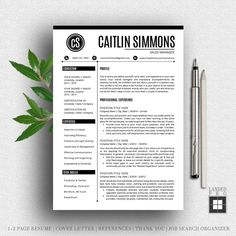 Resume Template  Cover Letter Template  Professional Modern