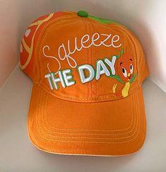Walt Disney World Florida Orange Bird Squeeze the Day Baseball Hat Cap Orange Hats, Orange Bird, Disney World Florida, Walt Disney World, Disney Mickey Ears, Florida Oranges, Ear Hats, Disney Bound