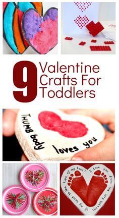 Valentine's Day is a fun time to create together. Join in the fun with your toddler as you make these adorable Valentine's Day Crafts for toddlers and preschoolers. #ValentinesDay #kidscraft #toddler