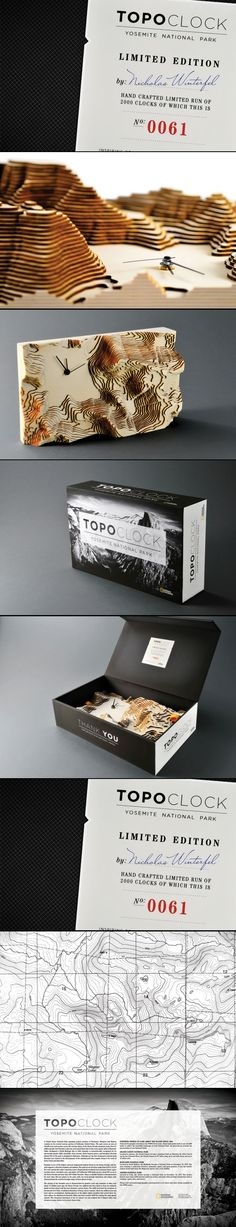 Topo Clock. Cool concept #identity #packaging #branding PD