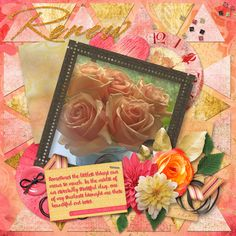 I received a little lift yesterday in the form of these beautiful flowers. A good reminder how much little things can make a difference! I used the Renew GDS Customer Appreciation Collab and Wind Song Template by Brenian Designs for this layout. The template set is on sale now for $1.20! The Collab can be earned for FREE either by spending an additional $15 in the GDS store after earning the monthly collab OR earning points by posting in the forums.