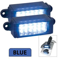 Perko Surface Mount Trim Tab Underwater Lights - Pair - Blue - https://www.boatpartsforless.com/shop/perko-surface-mount-trim-tab-underwater-lights-pair-blue/