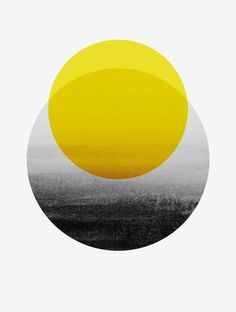 Logo Discover Sunrise Art Print by georgianaparaschiv Available for purchase Sunrise Art Yellow Black and White Grey Scale Minimal Minimalist Modern Classic Circles Shapes Simple Sleek Cool Elegant Fancy Abstract Art Jaune, Painting & Drawing, Sculpture Painting, Art Minimaliste, Minimal Art, Plakat Design, Yellow Art, Art Mural, Grafik Design