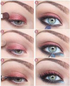 Gorgeous Makeup: Tips and Tricks With Eye Makeup and Eyeshadow – Makeup Design Ideas Eye Makeup Steps, Simple Eye Makeup, Natural Eye Makeup, Makeup For Brown Eyes, Diy Makeup, Makeup Inspo, Makeup Inspiration, Makeup Tips, Makeup Ideas