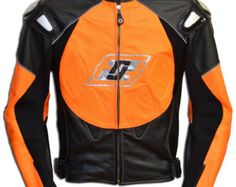 This motorcycle jacket designed for those who love speed, want to feel maximum protectetion and safe as much as possible.  Ergonomic cut for the convenience of riding on a motorcycle. Reflective corrugations, strips on the back, chest and sleeves. Exclusive design. Sophisticated handmade.  CE certified protectors. Made of high quality leather with 1.3- 1.4 mm thickness. * Double and triple stitched seam with titanium thread (100% Polyester) - to increase the strength of motorcycle jackets…