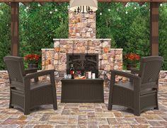 Suncast ELEMENTS - outdoor patio coffee table