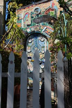 Santa Monica, CA - Mosaic house on the corner of 26th St. and Santa Monica, CA