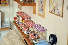 Using Bonne Maman Jars For Storage in the Craft Room