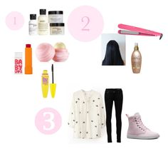 """Get Ready With me"" by happygirlavenue ❤ liked on Polyvore featuring philosophy, Maybelline, Eos, Kenzie, Remington, Organix, Yves Saint Laurent and Dr. Martens"