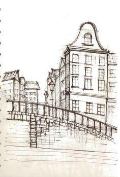 Amsterdam- pen sketch