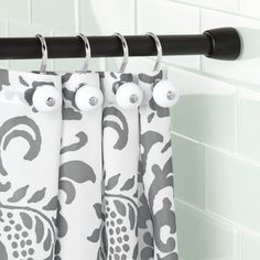 Forma 87 Adjustable Straight Tension Shower Curtain Rod