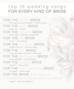 1000 Ideas About Top 10 Wedding Songs On Pinterest