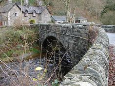 Pont-rhyd-y-groes, the bridge over the Ystwyth Rhyd is a small village in the Welsh County of Gwynedd, located on the B4410 road, halfway between Maentwrog and Llanfrothen. Situated on an elevated site within the Snowdonia National Park, the village has views of the Moelwyns, notably Moelwyn Bach. The village is located one mile from Tan-y-Bwlch railway station, one of the principal stops on the historic Ffestiniog Railway.