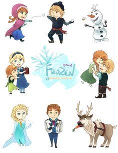 Chibi Disney Frozen | Chibi Frozen! by Scarlettestar