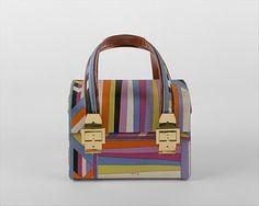 Purse  Emilio Pucci  (Italian, Florence 1914–1992)  Date: 1966–67 Culture: Italian Medium: silk, leather, metal