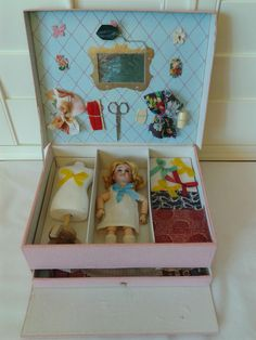 French Presentation Box with SFBJ and Mannequin. from au-nain-bleu-ii on Ruby Lane