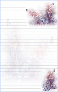flowers butterfly lined papier a lettre Paper Journal, Journal Cards, Free Printable Stationery, Printable Paper, Papel Vintage, Notebook Paper, Stationery Paper, Note Paper, Writing Paper