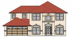 House Plan 53388 Elevation