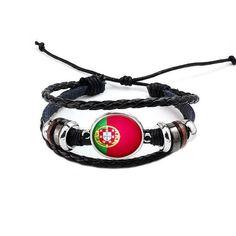 Italy National Flag Layered Leather Bracelet - Bracelets - Ring to Perfection Braided Bracelets, Bracelets For Men, Leather Bracelets, Charm Bracelets, Leather Jewelry, France National Flag, Cute Charms, Leather Cuffs, Bracelet Making
