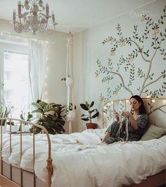 Bohemian Bedroom Decor And Bed Design Ideas Simple Bedroom Design, Simple Bedroom Decor, Bohemian Bedroom Decor, Bed Design, Interior Design Living Room, Living Room Decor, Bedroom Ideas, Bohemian Decorating, Bedroom Romantic