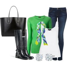 A fashion look from February 2014 featuring Joseph sweaters, Topshop tops and Koral jeans. Browse and shop related looks.