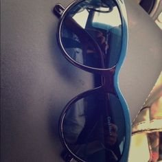 Cole Haan cat eye sunnies Never worn cute double color sunnies Cole Haan Accessories Sunglasses