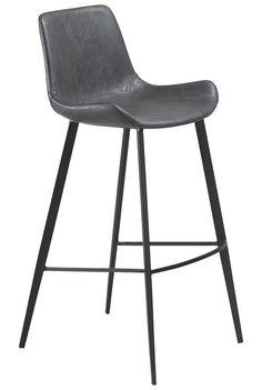 Hype+Barstol+-+Vintage+grå+-+En+klassisk+og+robust+barstol+i+en+støvet+vintage+grå,+der,+på+smukkeste+vis,+kombinerer+godt+design+og+siddekomfort.+Stolen+kan+placeres+ved+det+høje+køkkenbord,+så+hele+familien+kan+være+med,+når+der+laves+mad.+Den+perfekte+barstol+til+den+designbevidste+familie.