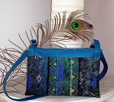 Sac ChaChaCha bleu et vert cousu par Michèle - Patron couture Sacôtin