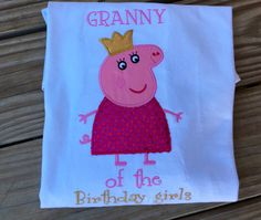 A personal favorite from my Etsy shop https://www.etsy.com/listing/252107646/peppa-pig-shirt