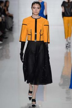 Michael Kors fall 2013 RTW, loveee the coat and pattern on the skirt, as well as the shoes
