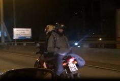 Jovens desrespeitam as leis de trânsito e desafiam o perigo na Terceira Ponte. +http://brml.co/1FJ2gQx