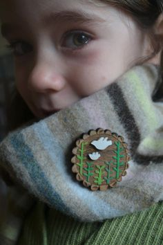 Dove from above brooch by gabiReith on Etsy, £25.00
